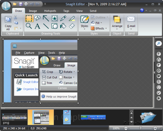 Snagit Organizer with Advance Image Editing Features