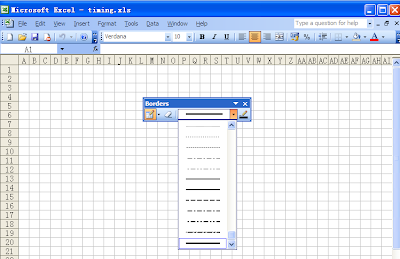 Eyoka Since 2001 Use Excel Borders To Draw Timing Diagram - Last