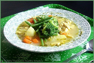 Complete Recipes Organic salmon potato soup with carrots, carrots and broccoli