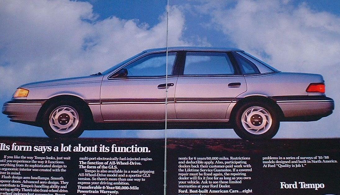 1989 ford tempo magazine ad old magazine ads. Black Bedroom Furniture Sets. Home Design Ideas