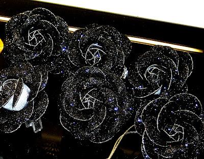 ~~~*A Black Rose *~~~ BLACK+GLITTER+ROSE+C
