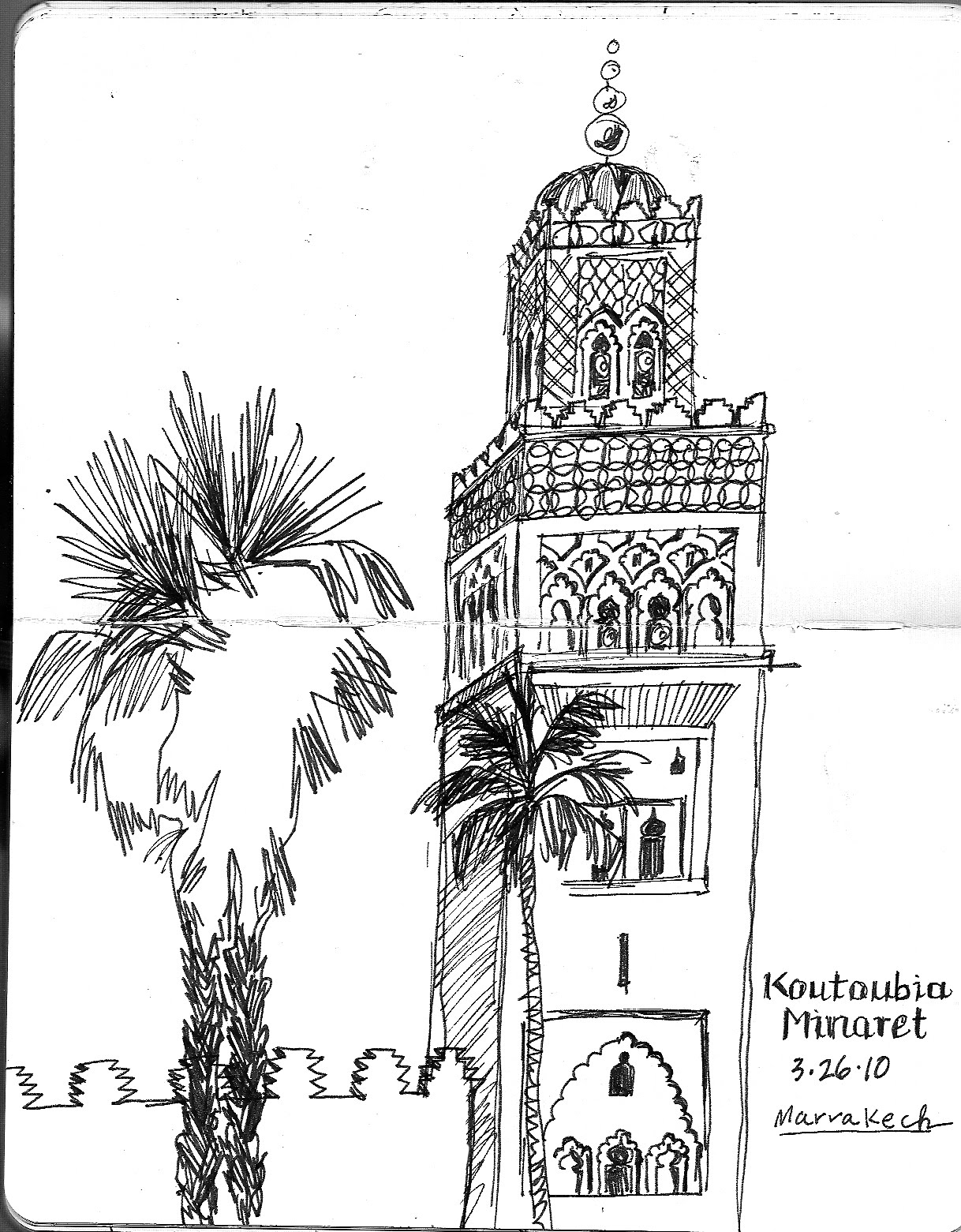 morocco coloring pages | Spirit of Drawing: More Drawings from Morocco - March 2010
