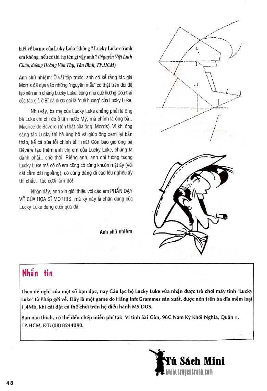 Lucky Luke tập 24 - tướng cướp một tay trang 50