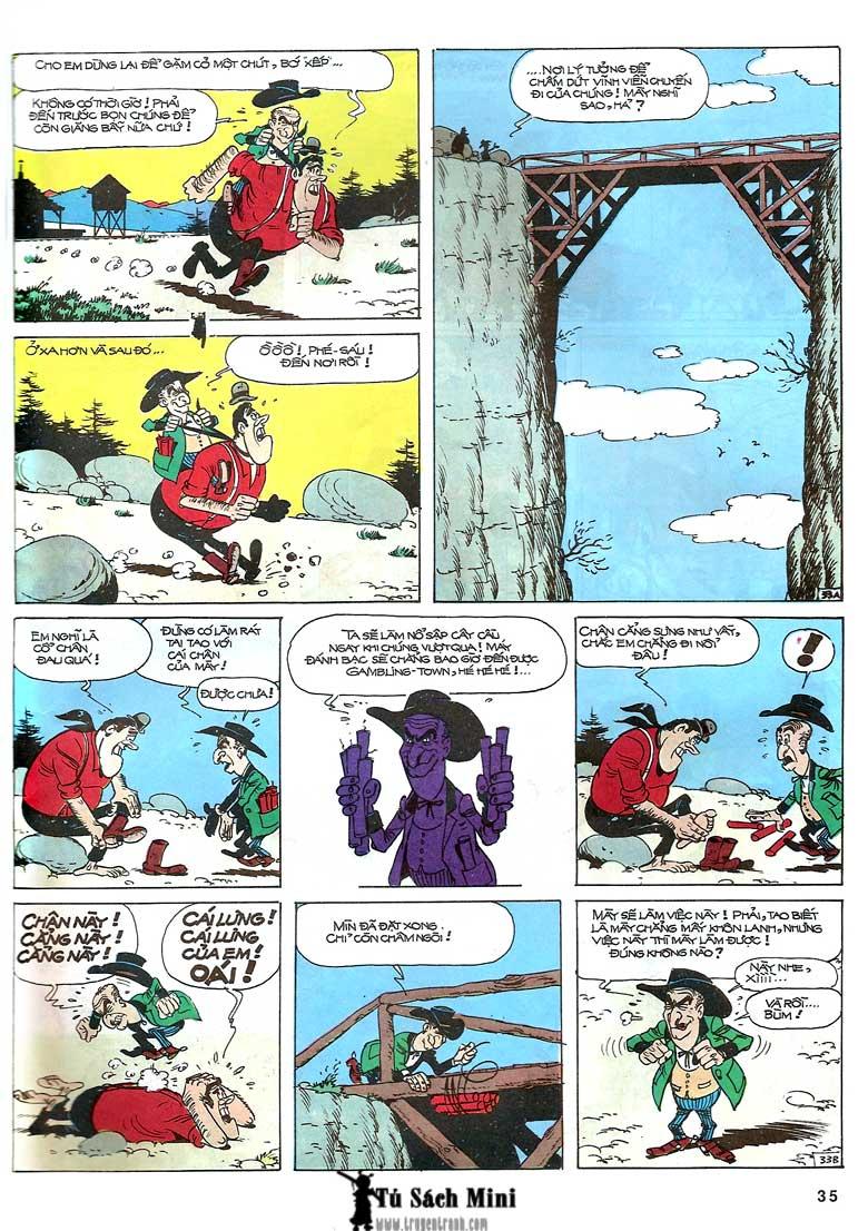 Lucky Luke tập 24 - tướng cướp một tay trang 37