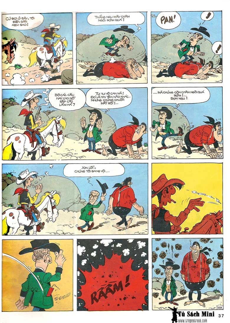 Lucky Luke tập 24 - tướng cướp một tay trang 39