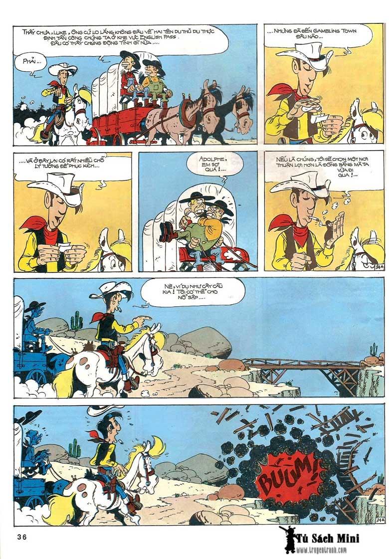 Lucky Luke tập 24 - tướng cướp một tay trang 38