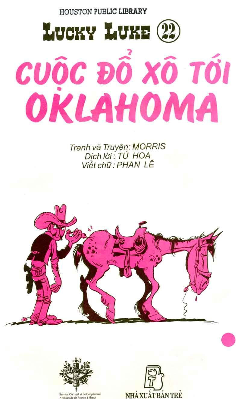 Lucky Luke tập 23 - cuộc đổ xô tới oklahoma trang 2