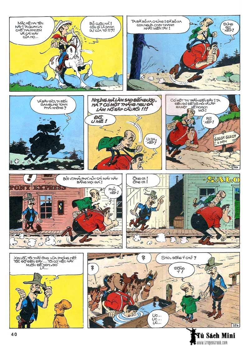 Lucky Luke tập 24 - tướng cướp một tay trang 42