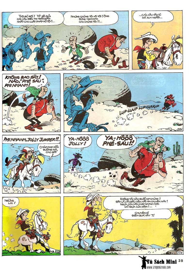 Lucky Luke tập 24 - tướng cướp một tay trang 41