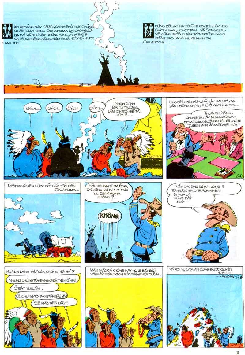 Lucky Luke tập 23 - cuộc đổ xô tới oklahoma trang 3