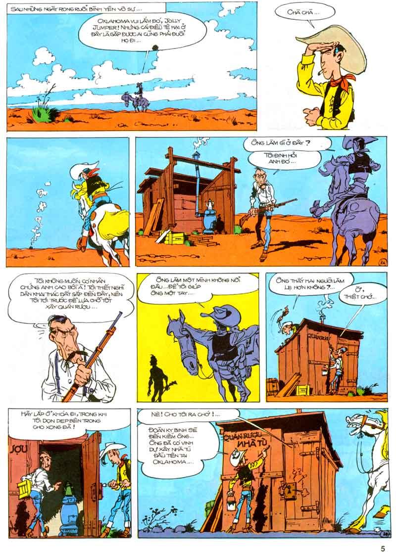 Lucky Luke tập 23 - cuộc đổ xô tới oklahoma trang 5