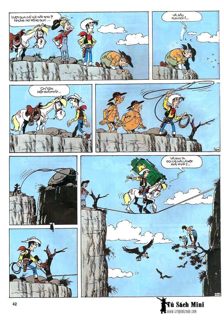 Lucky Luke tập 24 - tướng cướp một tay trang 44