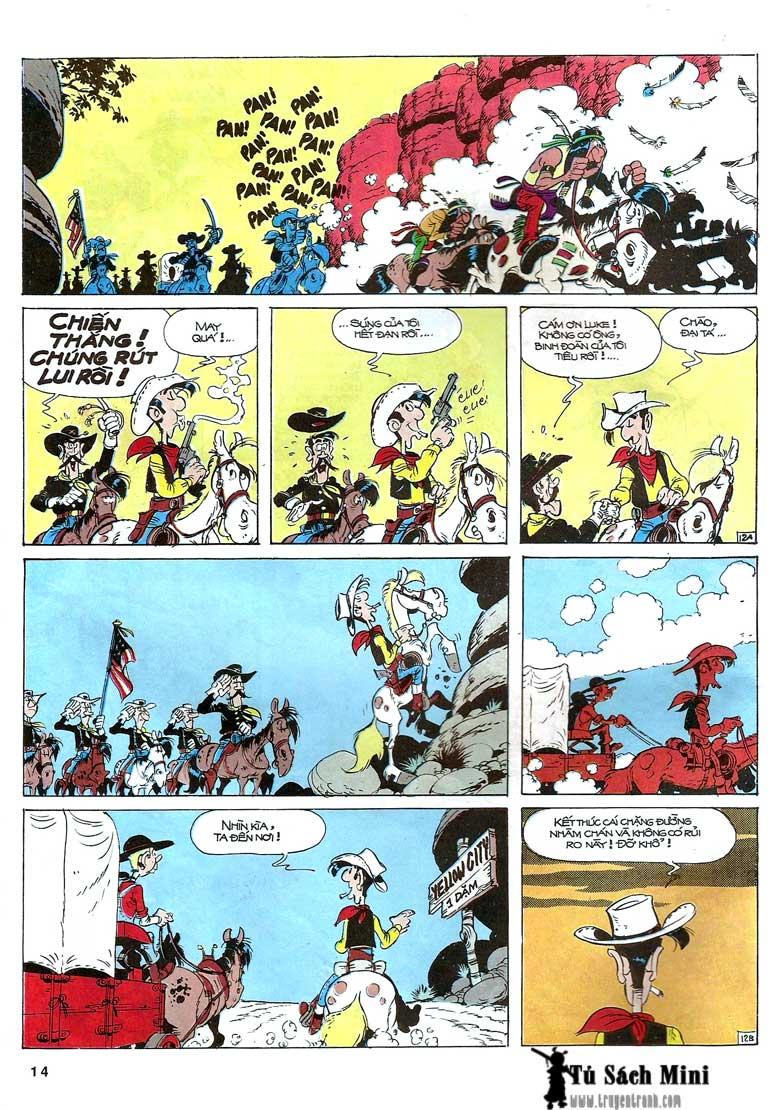 Lucky Luke tập 24 - tướng cướp một tay trang 16