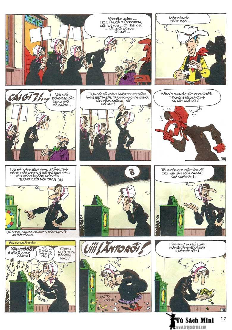Lucky Luke tập 24 - tướng cướp một tay trang 19