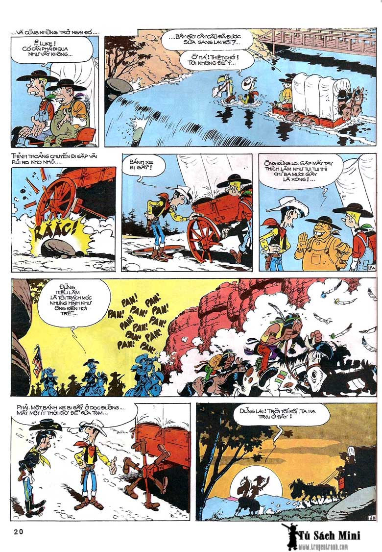 Lucky Luke tập 24 - tướng cướp một tay trang 22