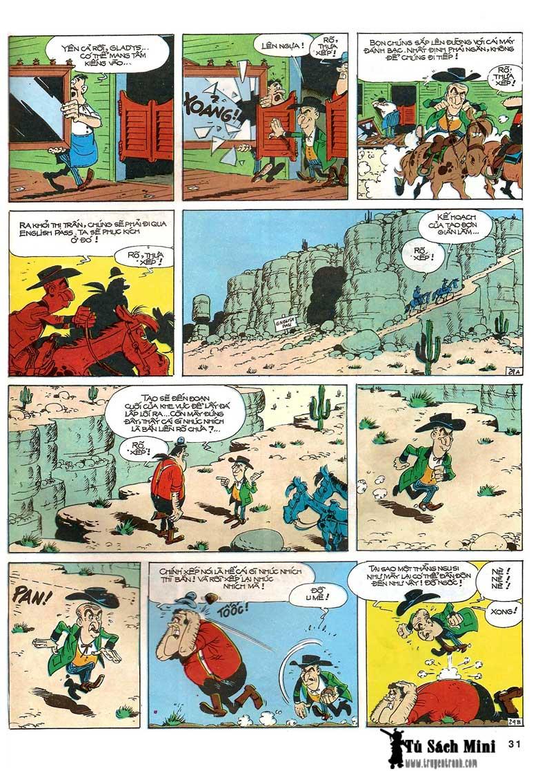 Lucky Luke tập 24 - tướng cướp một tay trang 33