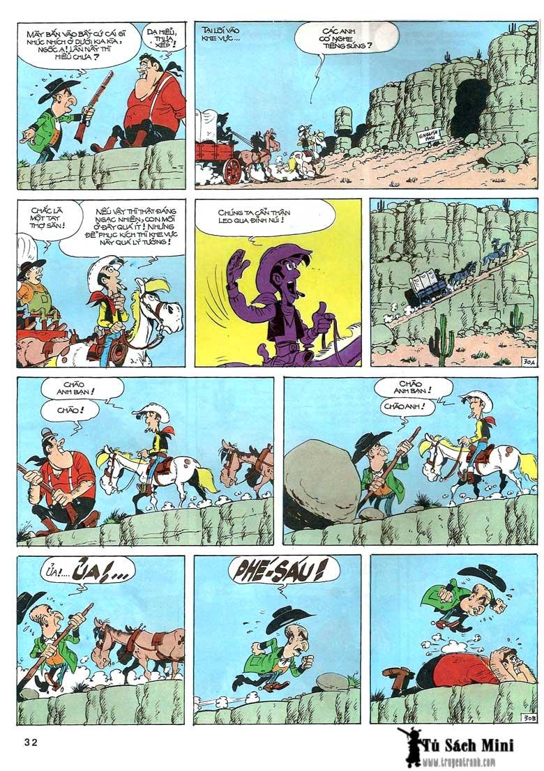 Lucky Luke tập 24 - tướng cướp một tay trang 34