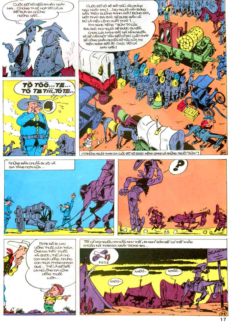Lucky Luke tập 23 - cuộc đổ xô tới oklahoma trang 17