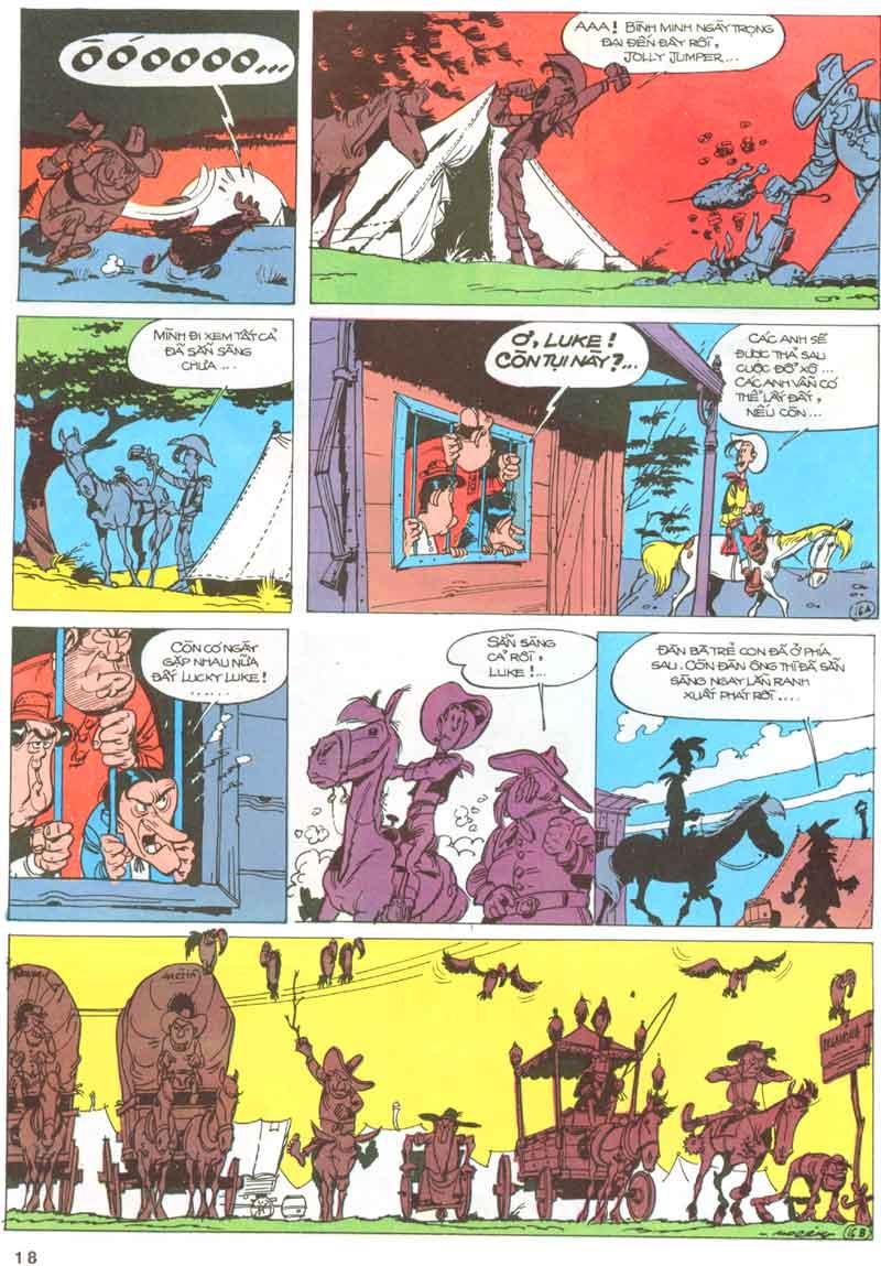 Lucky Luke tập 23 - cuộc đổ xô tới oklahoma trang 18
