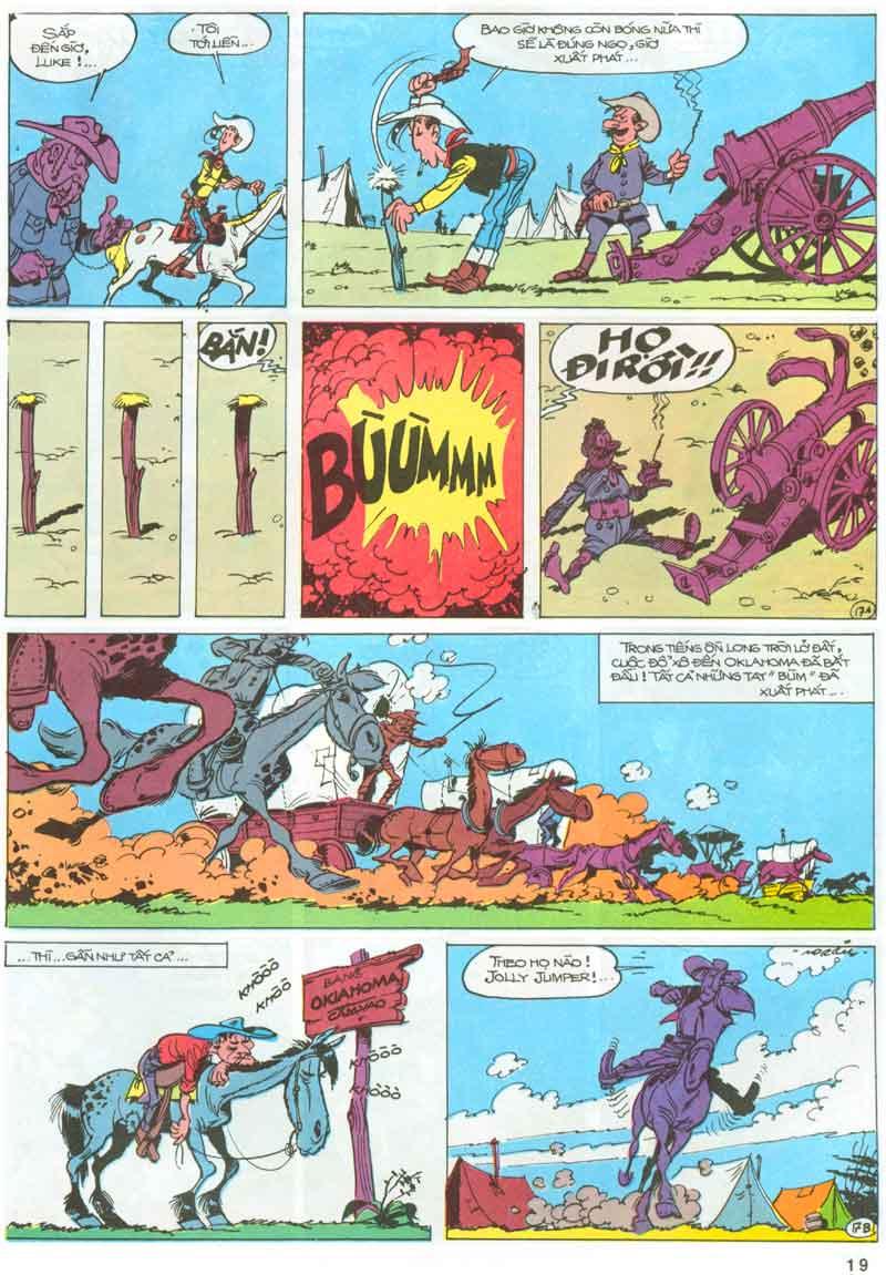 Lucky Luke tập 23 - cuộc đổ xô tới oklahoma trang 19