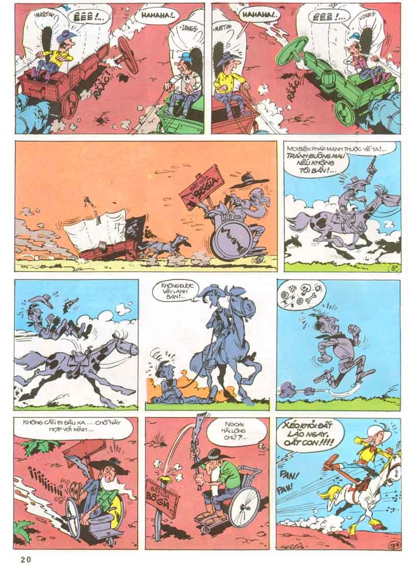 Lucky Luke tập 23 - cuộc đổ xô tới oklahoma trang 20