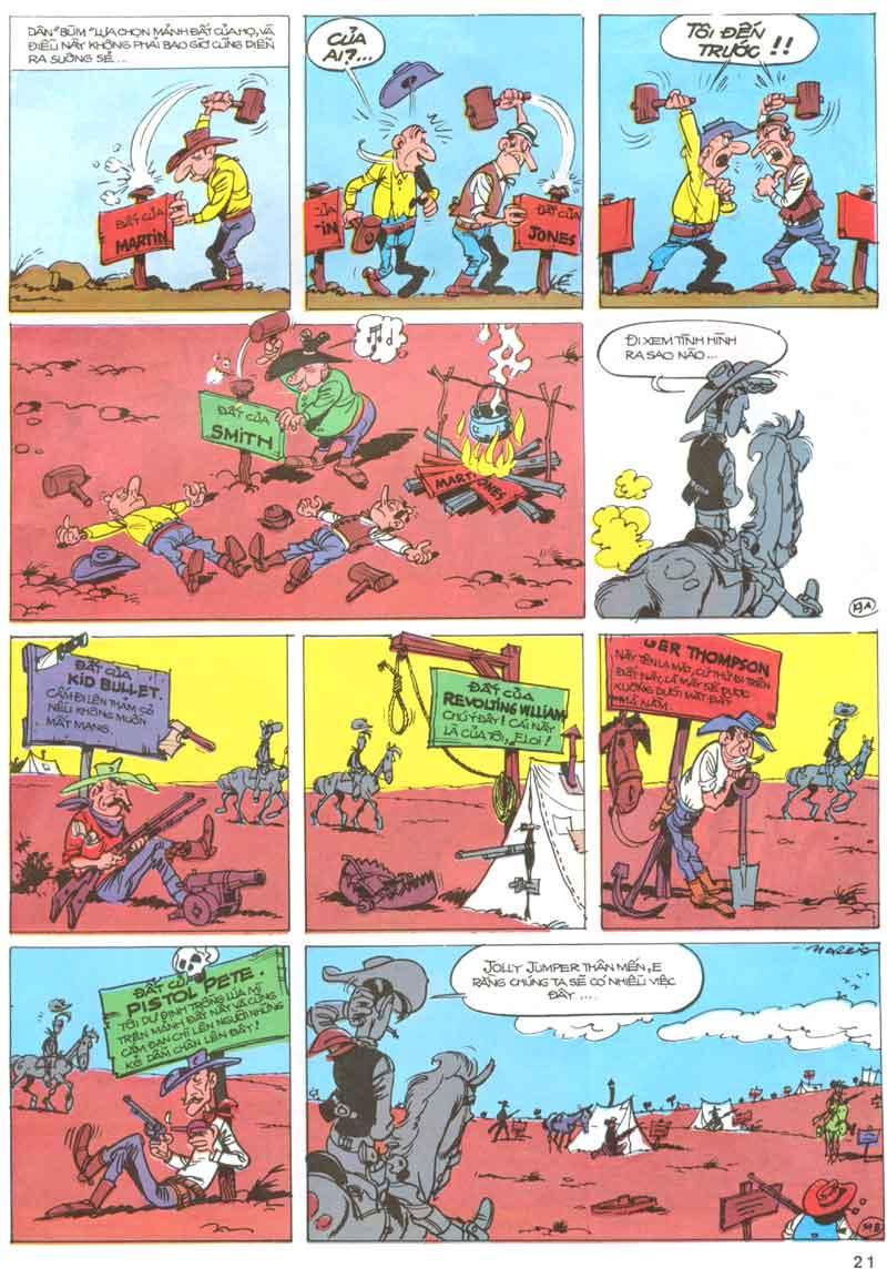Lucky Luke tập 23 - cuộc đổ xô tới oklahoma trang 21