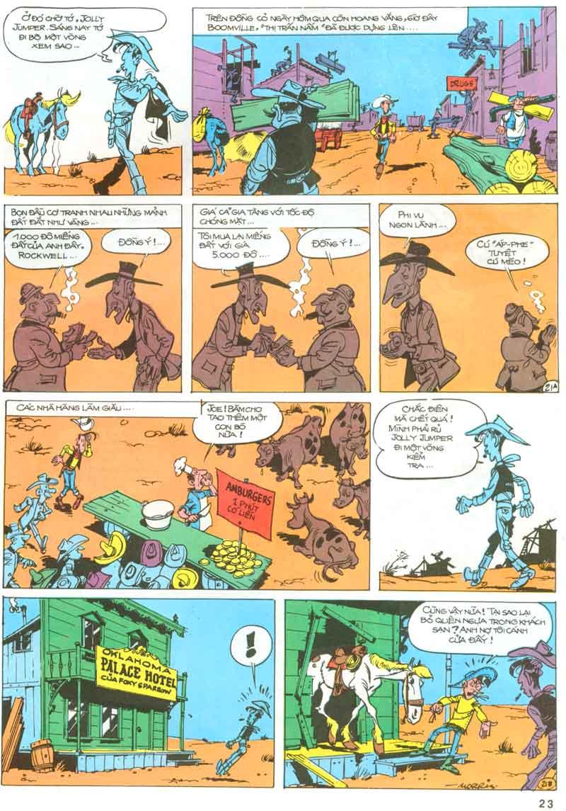 Lucky Luke tập 23 - cuộc đổ xô tới oklahoma trang 23