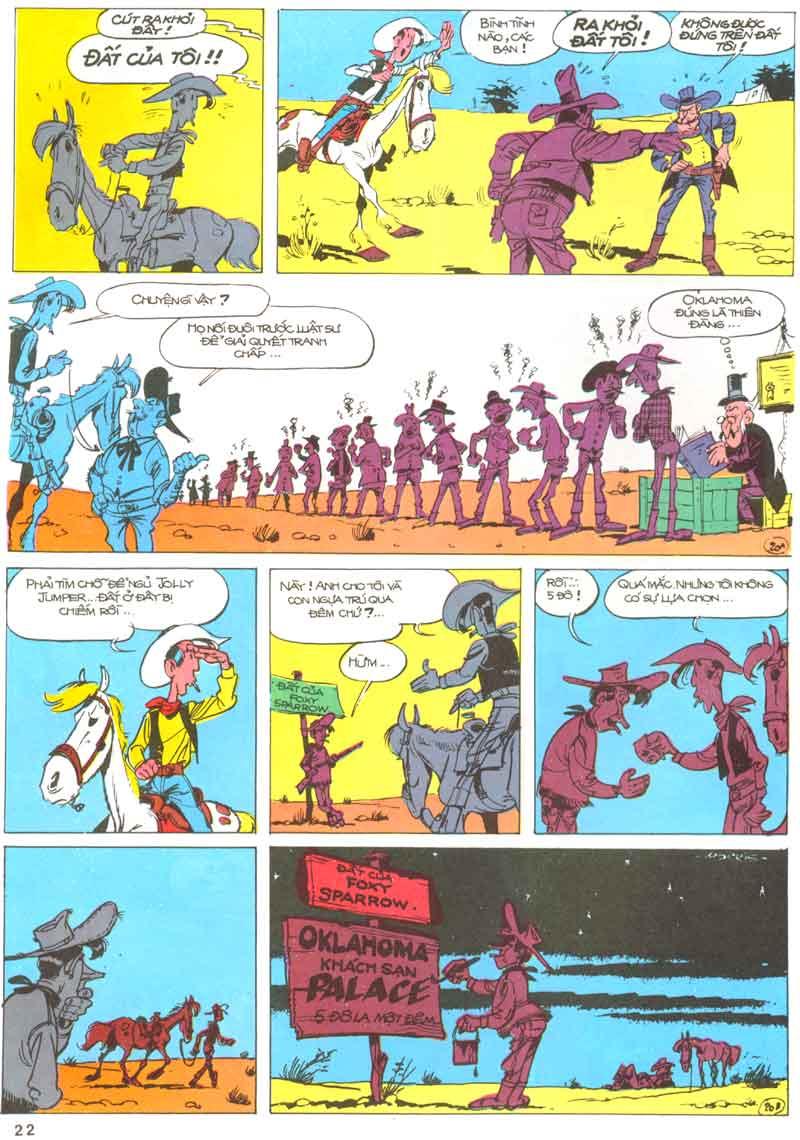 Lucky Luke tập 23 - cuộc đổ xô tới oklahoma trang 22