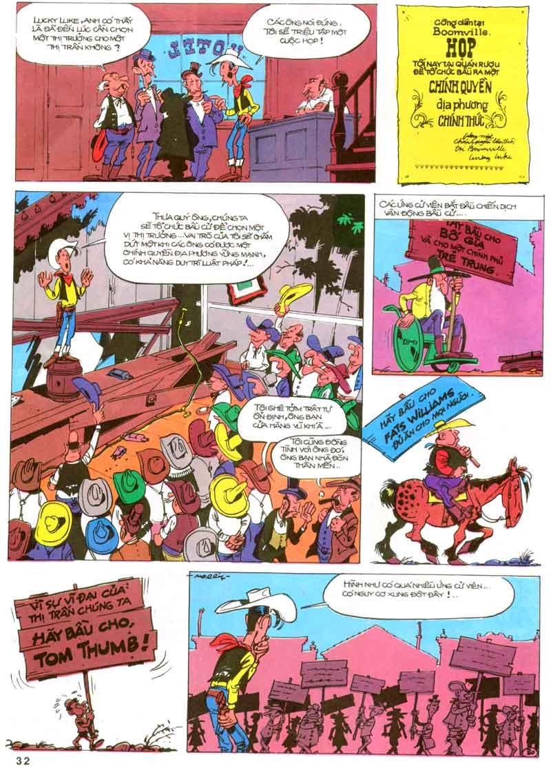 Lucky Luke tập 23 - cuộc đổ xô tới oklahoma trang 32