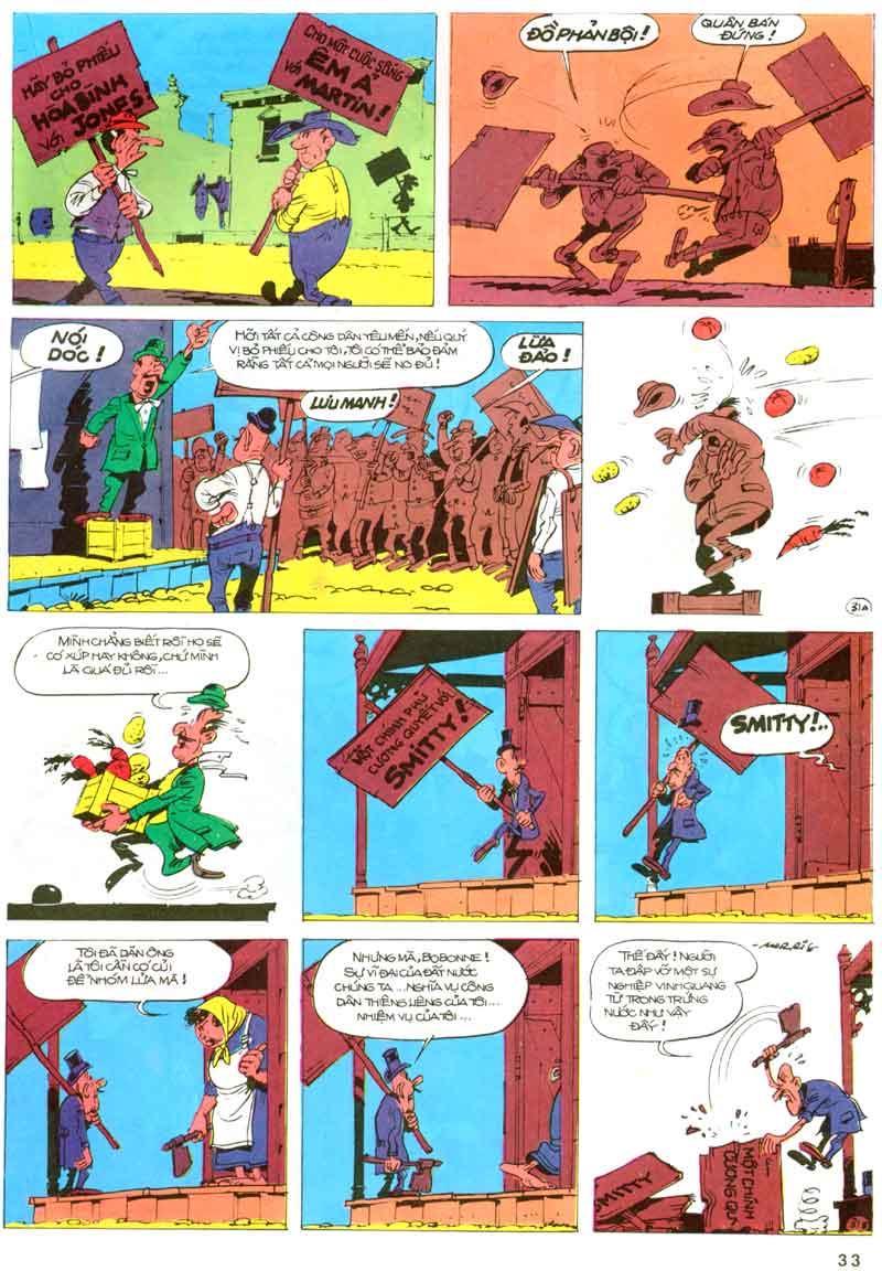 Lucky Luke tập 23 - cuộc đổ xô tới oklahoma trang 33