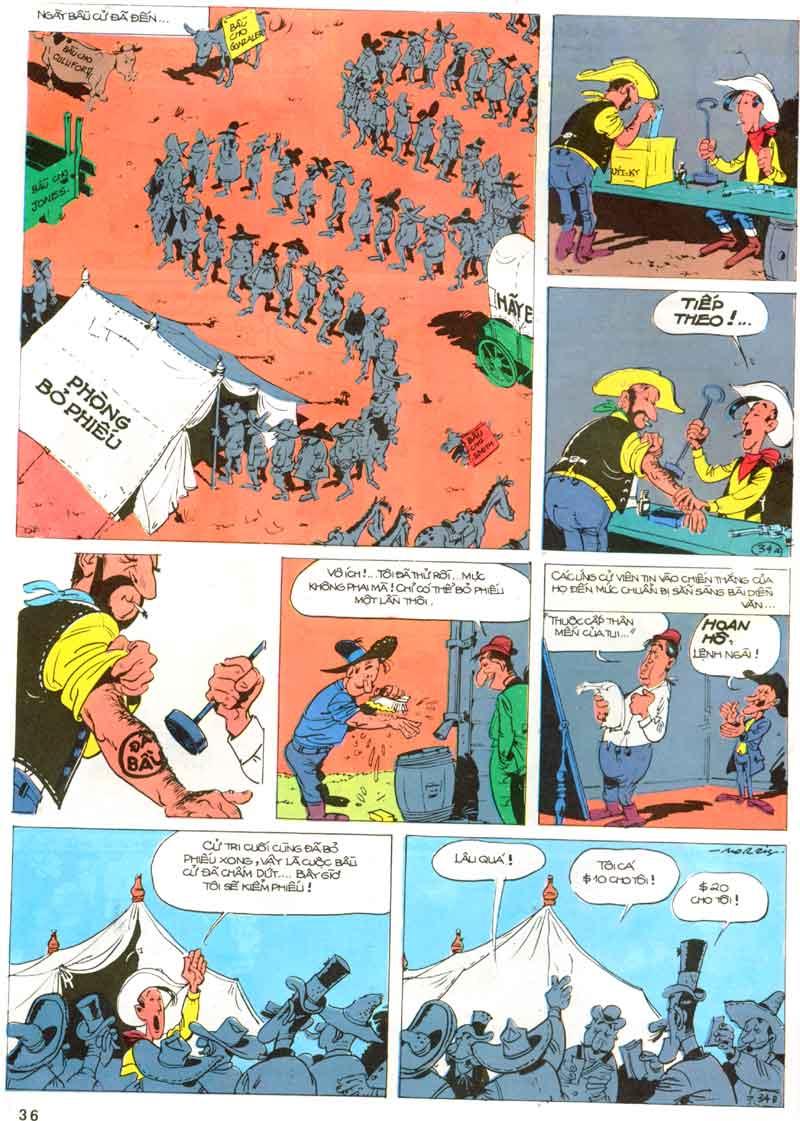 Lucky Luke tập 23 - cuộc đổ xô tới oklahoma trang 36