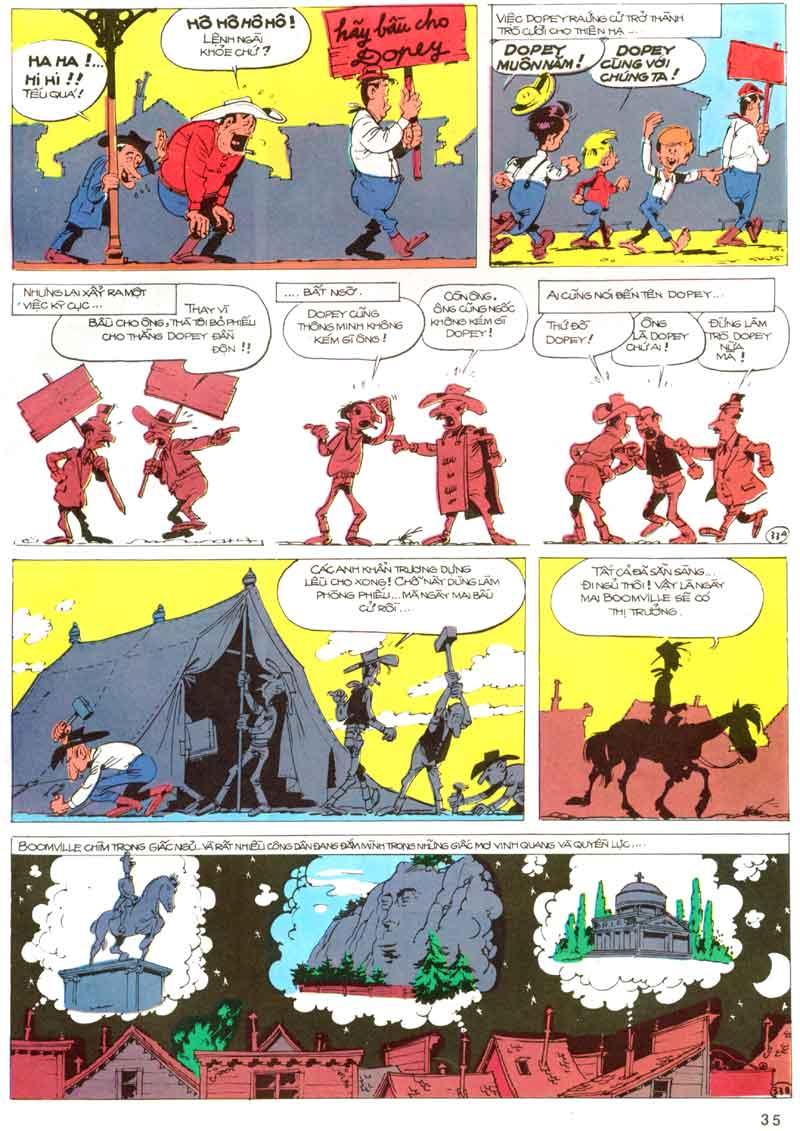 Lucky Luke tập 23 - cuộc đổ xô tới oklahoma trang 35