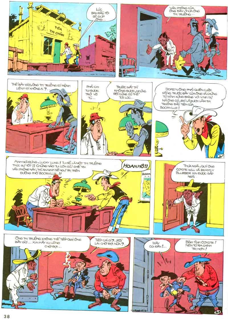 Lucky Luke tập 23 - cuộc đổ xô tới oklahoma trang 38