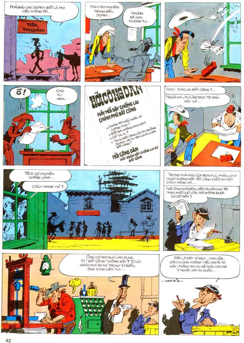 Lucky Luke tập 23 - cuộc đổ xô tới oklahoma trang 42