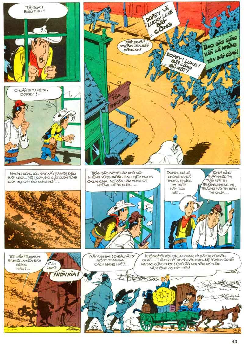 Lucky Luke tập 23 - cuộc đổ xô tới oklahoma trang 43