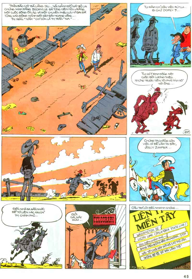 Lucky Luke tập 23 - cuộc đổ xô tới oklahoma trang 45