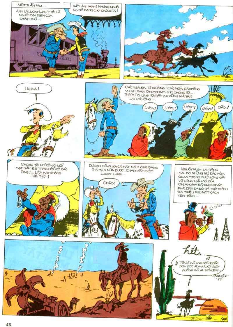 Lucky Luke tập 23 - cuộc đổ xô tới oklahoma trang 46
