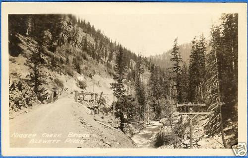 Liberty Near Me >> Old Blewett Pass Highway: Bridge at Negro Creek, circa 1920