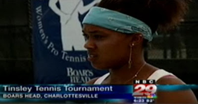 Black Tennis Pro's Angela Haynes Boyd Tinsley Women's Pro Tennis Tournament