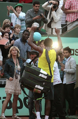 Black Tennis Pro's Gael Monfils 2009 French Open