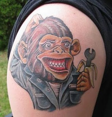 tattoo of monkey