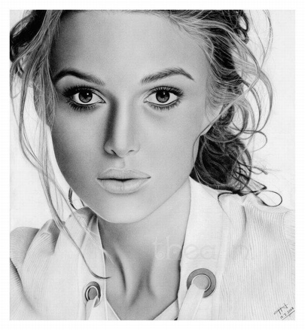 54 Incredible female pencil portrait drawings | Curious ...