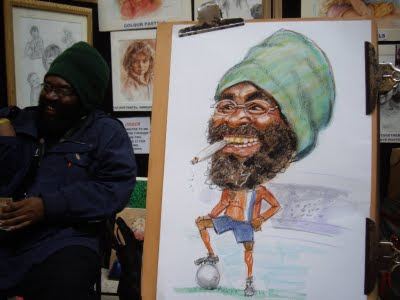 A great subject for a live caricature