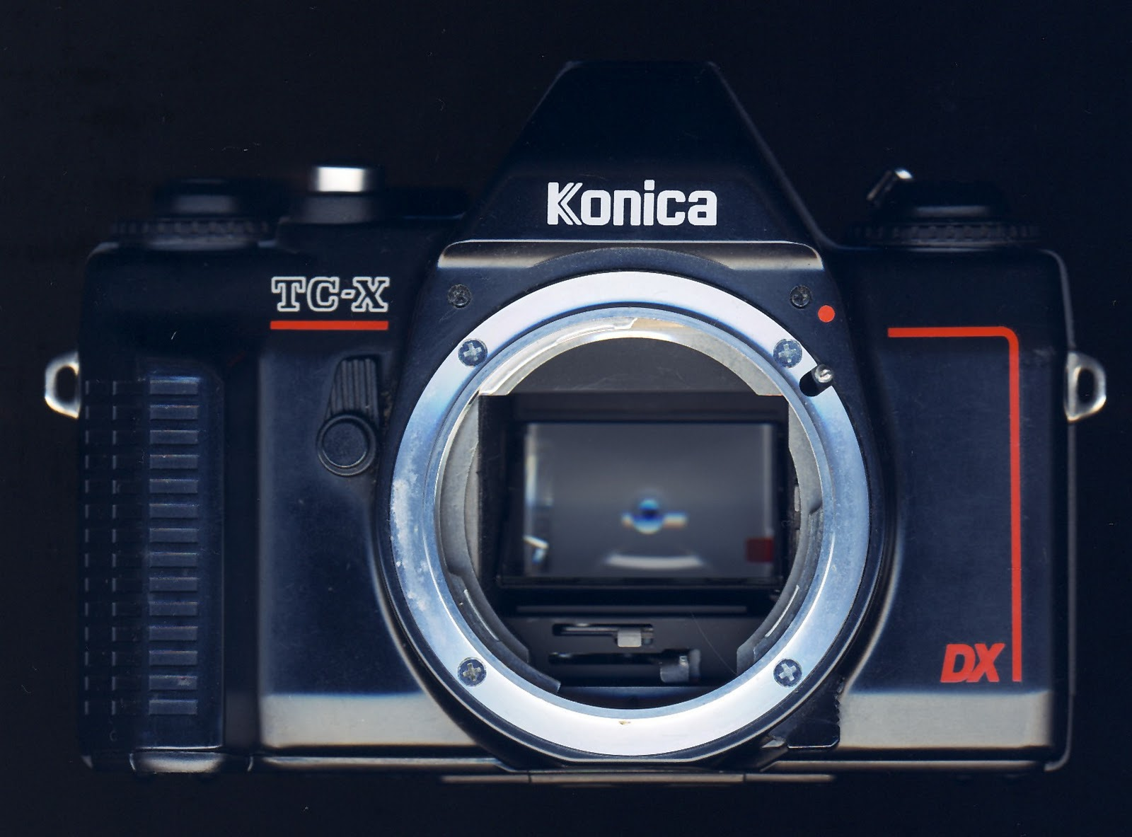 On the down side, the Konica TC-X represented another step in the decline  of the brand. It was the first Konica SLR body made by an outside  manufacturer, ...