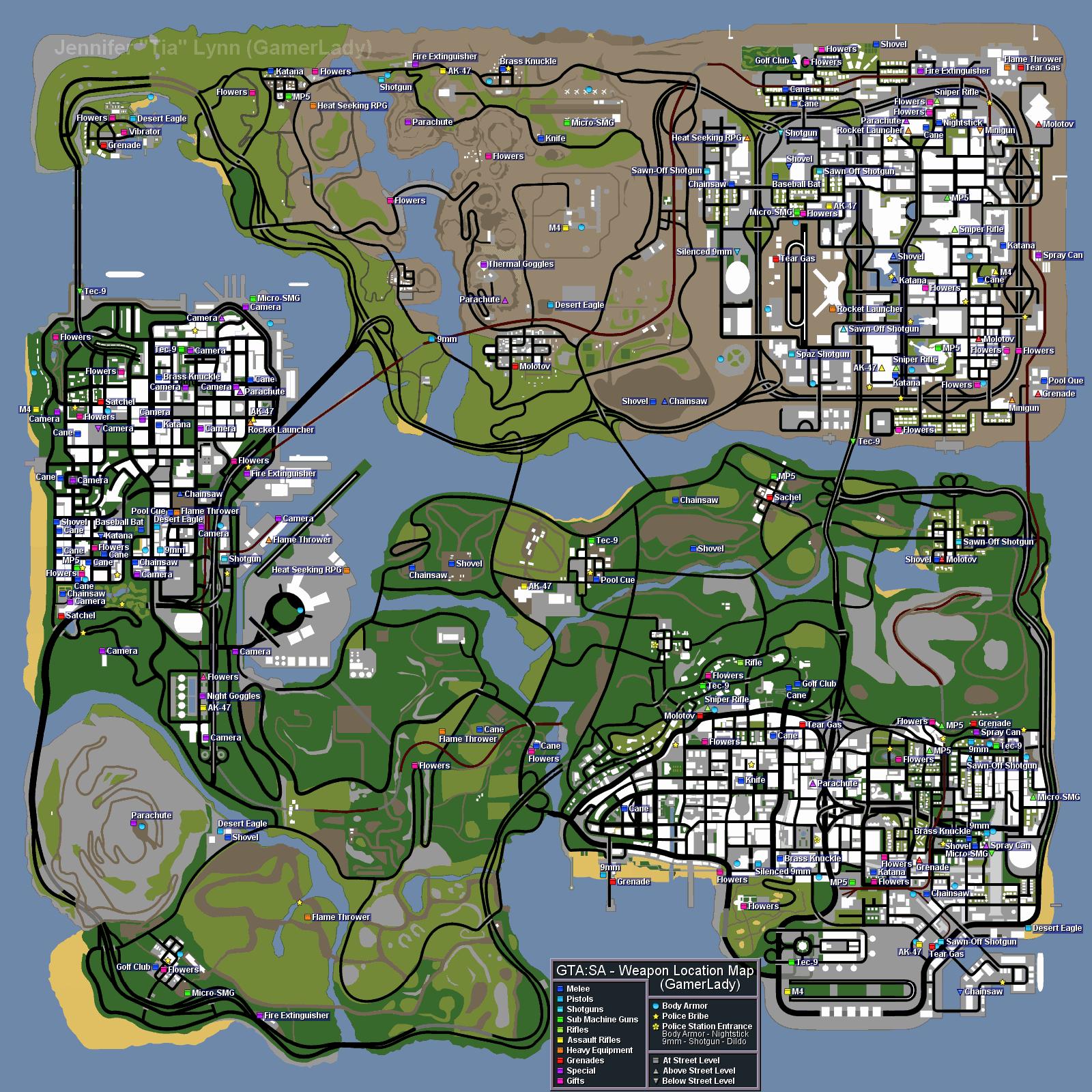 Gta San Andreas Map Locations