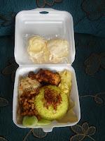 nasi kuning box styrofoam: nasi kuning box styro foam