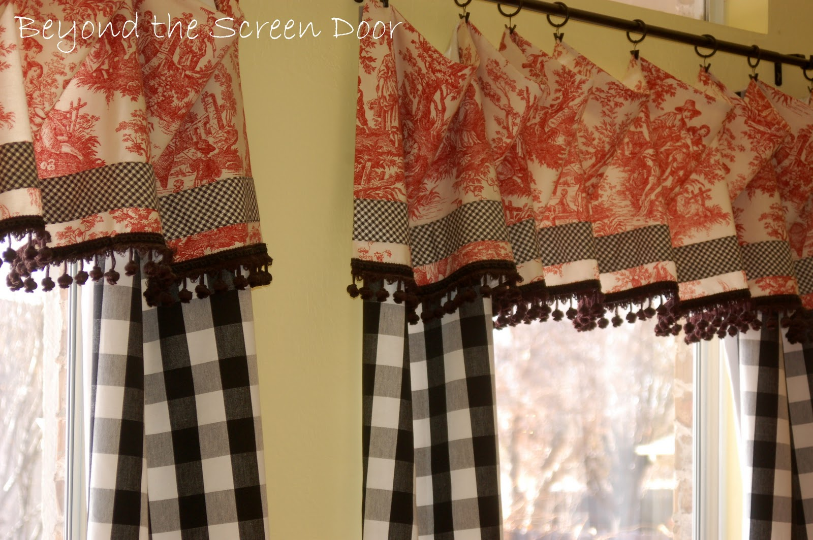 Red Valances For Kitchen Windows Bobs Furniture Table 1000 43 Images About Window Treatments On Pinterest