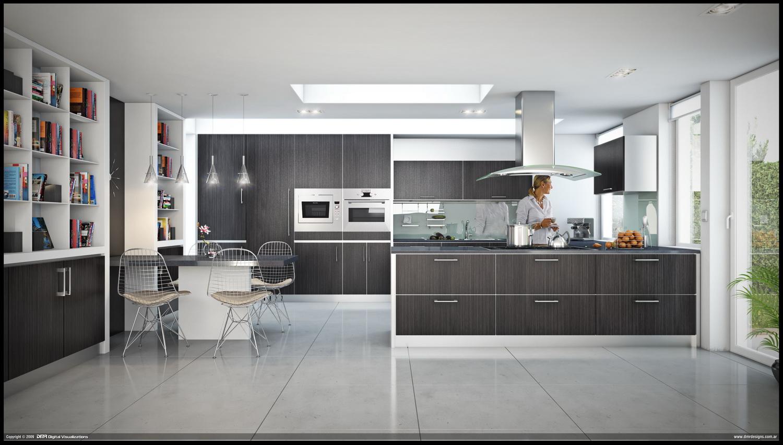 Modern style kitchen set interior design ideas 3