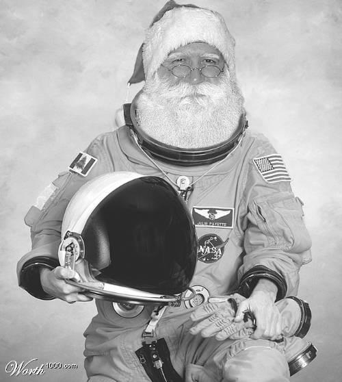 santa in nasa space suit - photo #1