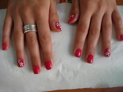 Nail Ideas: Short red nails styles 2009
